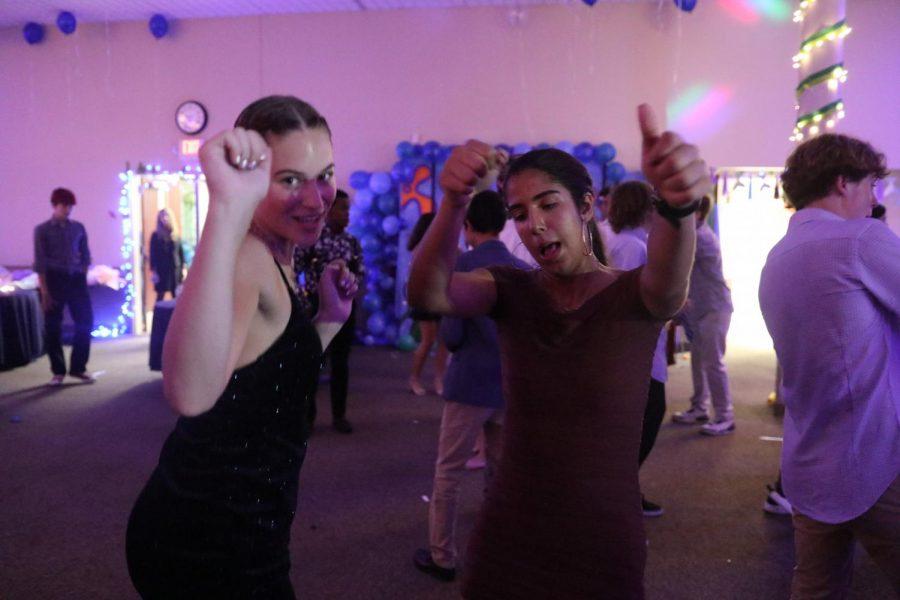 Anne Wagner (senior) and Sofia Flores (senior) felt all the hoco vibes