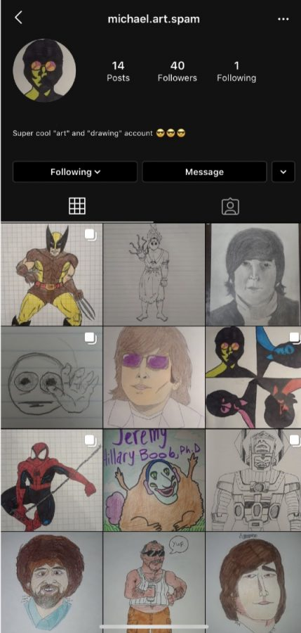 Find some of Michael's drawings on Instagram!
