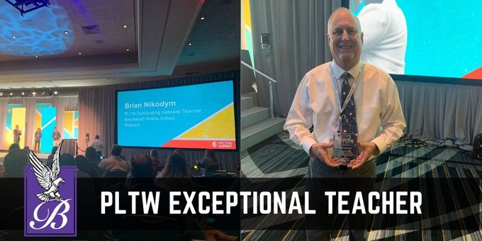 Brian+Nikodym+accepts+his+award+at+the+PLTW+summit+in+Kansas+City
