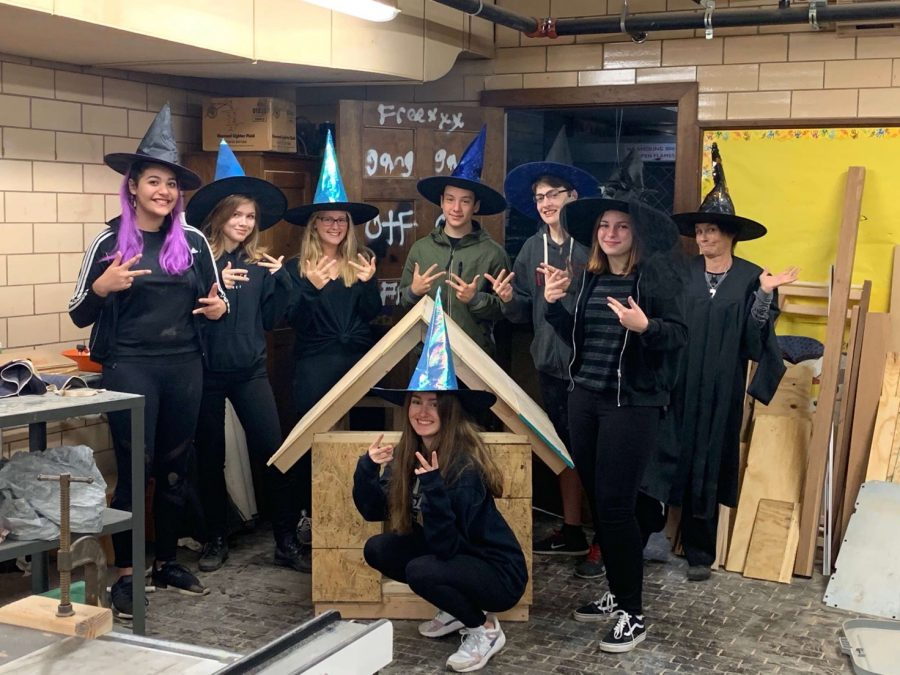 Hear the pre-calc class cackle in their witchy looks