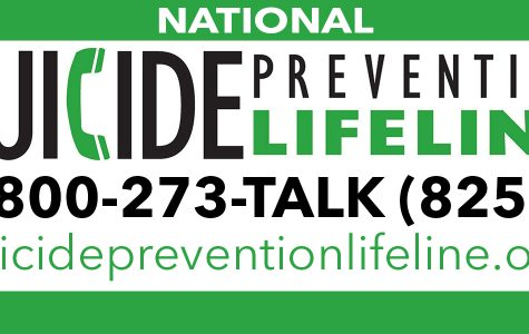 The National Suicide Prevention Lifeline and website link, open 24 hours a day.