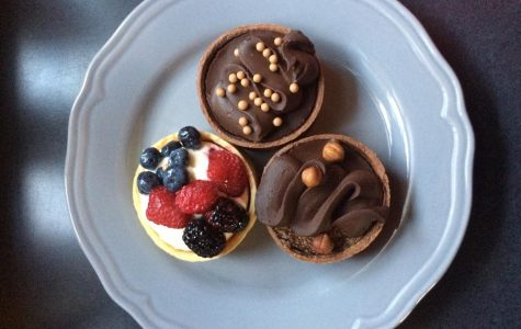 The mini triple berry and chocolate tortes from Whole Foods