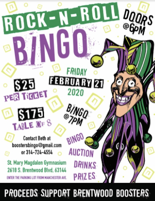 Rock and Roll Bingo Night February 21st