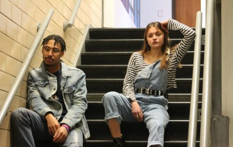 Seniors Zoe Krause and Marco Mathon pose for their superlative picture. Photo by: Lulu Martin