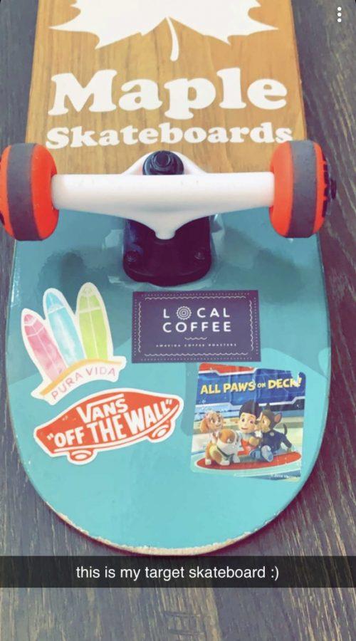 Savannahs snazzy skateboard