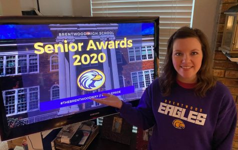 Brentwood college and career counselor, Emily Diaz, watches the show from home.
