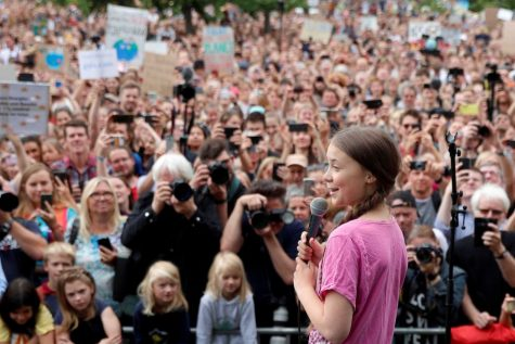 Greta Thunberg leads a protest of strong, passionate youth fighting for a better tomorrow