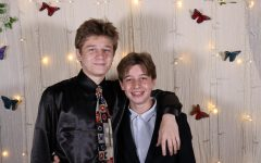 Joshua Kelley and Lucas Kelley posing for a picture at this years homecoming.